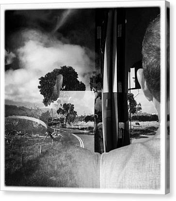 George On The Bus Canvas Print by Kelly Jade King