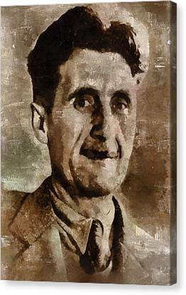 George Orwell Author Canvas Print by Mary Bassett