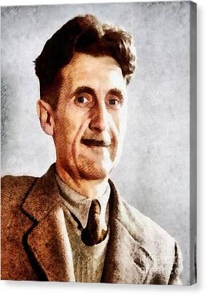 George Orwell, Literary Legend Canvas Print by John Springfield