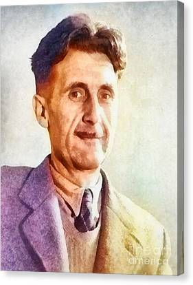 George Orwell, Writer Canvas Print by Frank Falcon