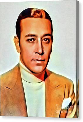 George Raft, Vintage Actor. Digital Art By Mb Canvas Print