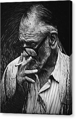 George Romero Canvas Print by Taylan Apukovska