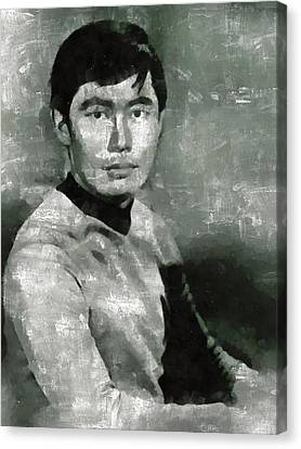 George Takei, Sulu From Star Trek Vintage Canvas Print by Mary Bassett