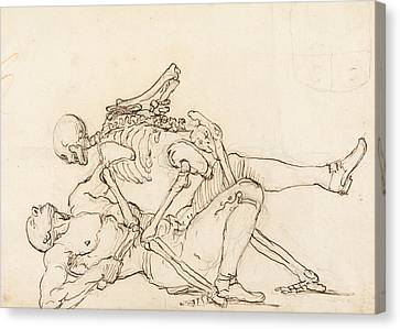 Hogarth Canvas Print - George Taylor's Epitaph - Death Giving George Taylor A Cross Buttock by William Hogarth