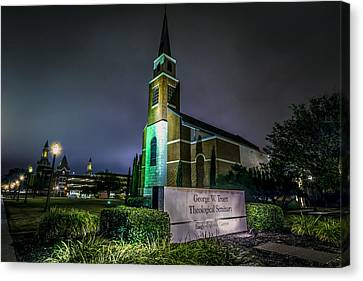 Canvas Print featuring the photograph George W Truett Seminary At Baylor University by David Morefield