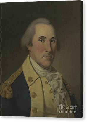 Founding Fathers Canvas Print - George Washington, 1788 by Charles Willson Peale
