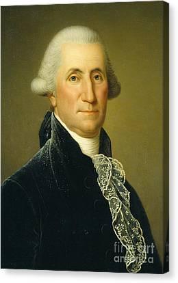 Cravat Canvas Print - George Washington, 1795 by Adolf Ulrich Wertmuller