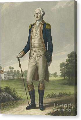Founding Fathers Canvas Print - George Washington, 1859 by Hezekiah Wright Smith