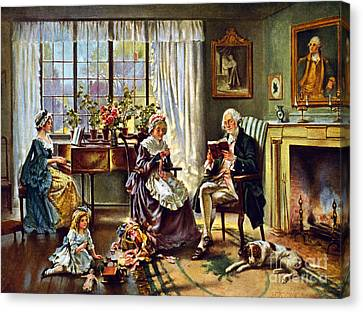 George Washington And Family Canvas Print by Science Source