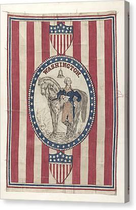 George Washington Banner Canvas Print by Michael Trekur