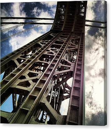 George Washington Bridge From Below Canvas Print