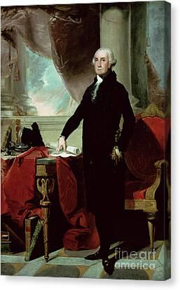 Founding Fathers Canvas Print - George Washington by Gilbert Stuart