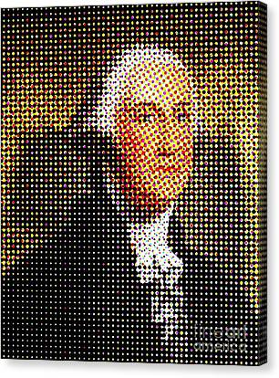 George Washington In Dots  Canvas Print