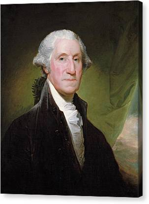 George Washington Portrait Canvas Print by Gilbert Stuart