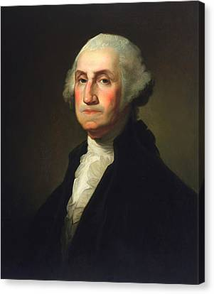 George Washington - Rembrandt Peale Canvas Print by War Is Hell Store