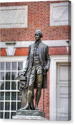 George Washington Statue Canvas Print by David Zanzinger