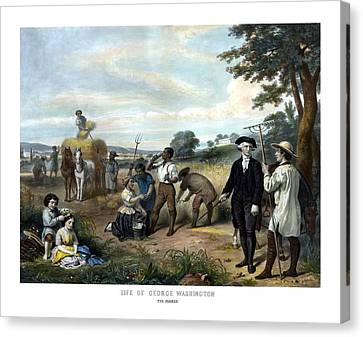 George Washington The Farmer Canvas Print by War Is Hell Store