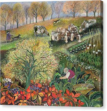 George's Allotment Canvas Print