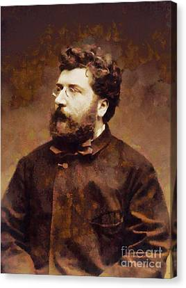 Georges Bizet, Composer By Sarah Kirk Canvas Print by Sarah Kirk