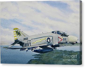 George's Fighter Plane Canvas Print by Karol Wyckoff