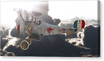 Georges Guynemer Nieuport 17 Canvas Print by David Collins