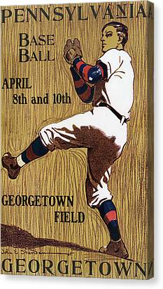 Georgetown Baseball Game Poster Canvas Print by American School