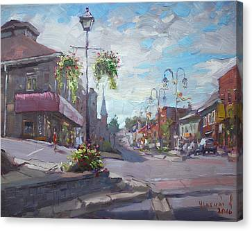 Georgetown Downtown Canvas Print by Ylli Haruni