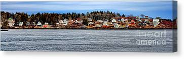 Georgetown Island Bay Point In Maine Canvas Print by Olivier Le Queinec