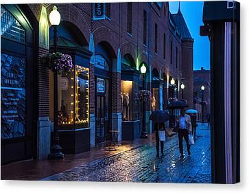 Georgetown Night Canvas Print by Andrew Kazmierski