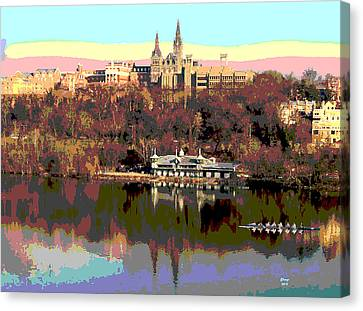 Georgetown University Crew Team Canvas Print