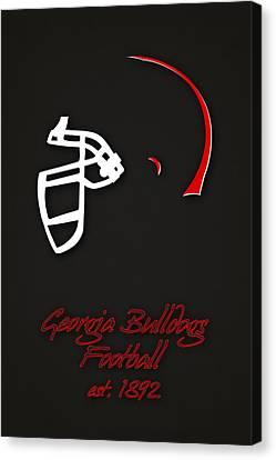 Georgia Bulldogs Helmet 2 Canvas Print by Joe Hamilton