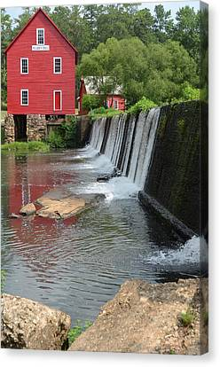 Canvas Print featuring the photograph Georgia Mill by Margaret Palmer