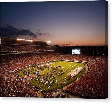 Georgia Sunset Over Sanford Stadium Canvas Print by Replay Photos