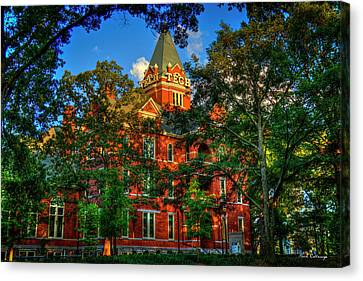 Canvas Print featuring the photograph Georgia Tech Tech Tower Sunset Ga Tech Administration Building Atlanta Art by Reid Callaway