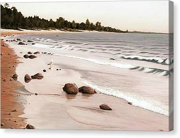 Georgian Bay Beach Canvas Print by Kenneth M  Kirsch