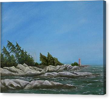 Georgian Bay Canvas Print by Rebecca  Fitchett