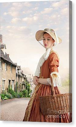 Canvas Print featuring the photograph Georgian Period Woman by Lee Avison