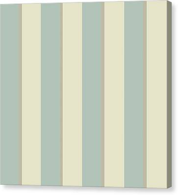 Georgian Stripe Eau De Nil Canvas Print by Sarah Vernon