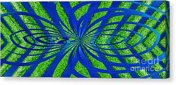 Geotwist Nature Abstract By Kaye Menner Canvas Print by Kaye Menner