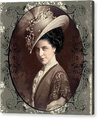 Canvas Print featuring the digital art Geraldine Farrar by Robert G Kernodle