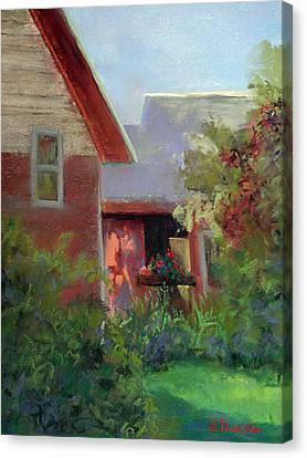 Geraniums Canvas Print by Linda Preece