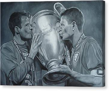 Canvas Print featuring the painting Gerard An Carragher by David Dunne