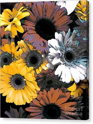 Gerbera Cluster Canvas Print by Linda  Parker