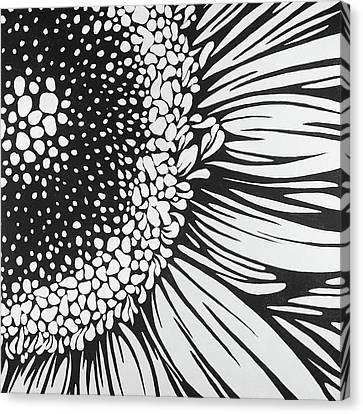 Gerbera Flower Outline Style Canvas Print by Atelier B Art Studio