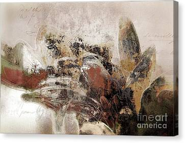Canvas Print featuring the mixed media Gerberie - 152s by Variance Collections