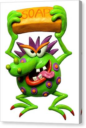 Germ Monster Canvas Print