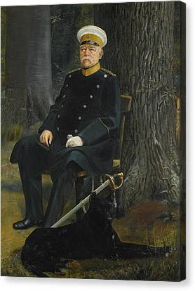 German Chancellor Otto Von Bismarck Canvas Print by MotionAge Designs