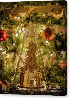 German Christmas Pyramid Canvas Print