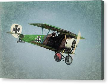 Canvas Print featuring the photograph German Fighter by James Barber