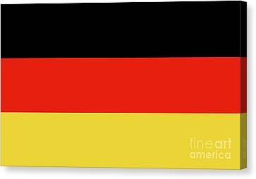 Canvas Print featuring the digital art German Flag by Bruce Stanfield